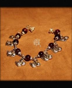 bracelet Ronde de 8 chats argentés
