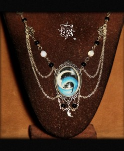 collier Cabochon Chat