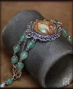 bracelet le laurier de mucha argenté
