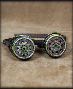 gog011-1 lunettes steampunk engrenages