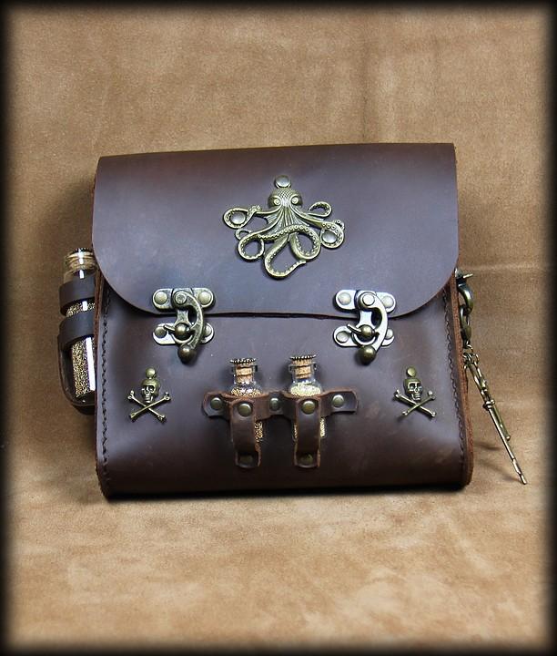 grande sacoche de ceinture à fiole