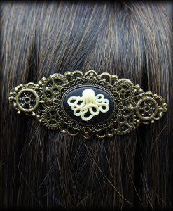 barrette Camée Octopus