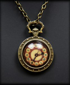 pendentif horloge