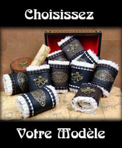 bracelet cuir et dentelle steampunk
