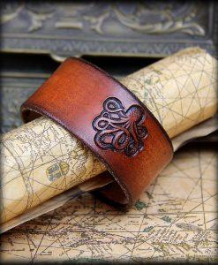 bracelet cuir poulpe
