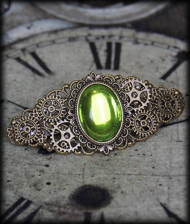 barrette Green Light