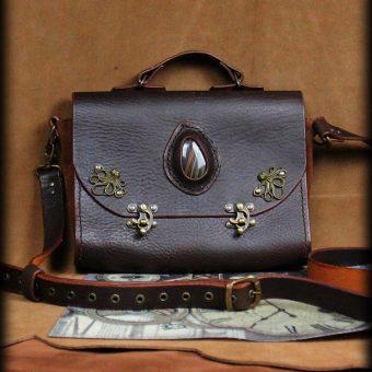 SAS020 3 sac Octopus en cuir