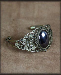 bracelet rigide hématite bronze