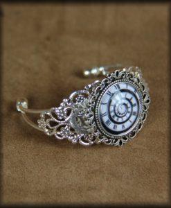 bracelet spirale temporelle argenté