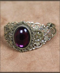 bracelet rigide purple tear