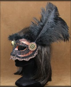 masque steampunk raven