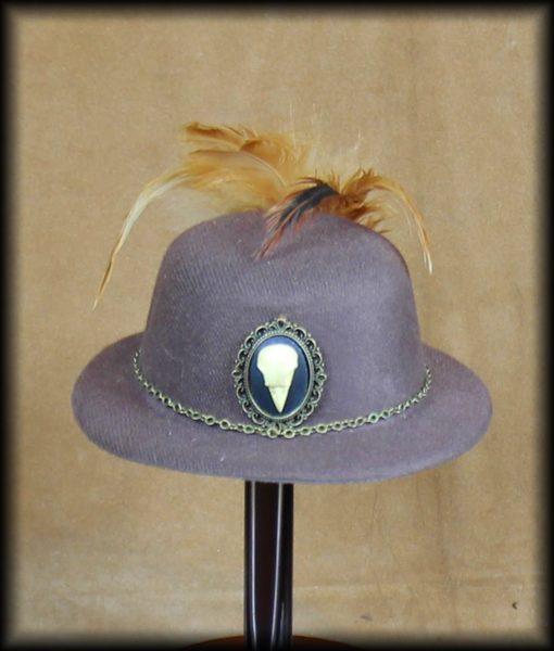 Mini chapeau corbeau